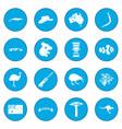 australia icon blue vector image vector image