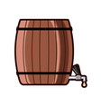 beer barrel with tap vector image vector image