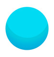 blue candy ball icon isometric style vector image vector image
