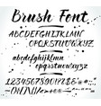 brush alphabet with numbers and punctuation vector image vector image