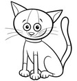 cat or kitten cartoon character coloring book page vector image vector image