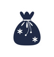 christmas gift bag isolated icon vector image vector image