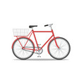 city old bike with a basket on trunk isolated vector image