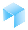 cube table icon isometric style vector image vector image