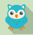cute kid owl icon flat style vector image vector image