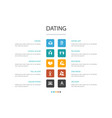 dating infographic 10 option conceptcouple in vector image