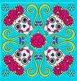 day dead mexican talavera ceramic tile vector image vector image