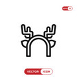 deer horns icon vector image vector image