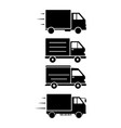 delivery truck icon set design template vector image