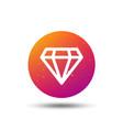 diamond icon jewelry gem sign vector image vector image