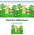 find the five differences vector image vector image