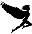 flying woman vector image vector image