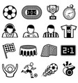 football sports icons soccer team symbols vector image vector image