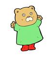 funny comic cartoon bear vector image vector image
