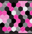 geometric pattern in 80s style vector image vector image