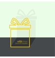 Gift box near wall vector image vector image