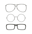 Glasses isolated set vector image