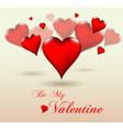 Glossy Valentine love hearts for all holiday seaso vector image vector image