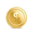 Golden dollar coin vector image