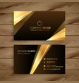 golden shiny business card design vector image vector image