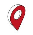 gps location pin icon image vector image