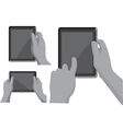 Gps navigation in hands vector image