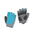 grey and blue sport gloves icon isolated on white vector image