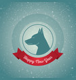 happy new year year of the dog holiday card with vector image vector image