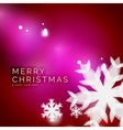 Holiday pink abstract background winter vector image