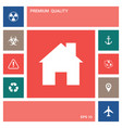 home icon symbol elements for your design vector image