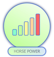 icons and symbols of car parts - Horse power vector image vector image