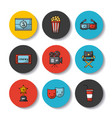 icons set movies vector image vector image
