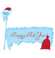 icy frame with lettering magic staff and gift bag vector image vector image