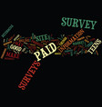 learn about paid surveys for teens online text vector image vector image
