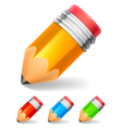 Little pencil vector image vector image