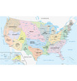 map watersheds in united states vector image vector image
