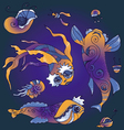Marine life collection vector image
