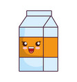 milk box icon vector image vector image