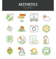 modern thin line flat design icons set vector image vector image