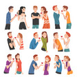 modern young people reject each others love set vector image