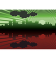 morning city panorama picture vector image vector image