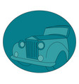 old retro car on white background vector image vector image