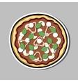 PizzaSticker4 vector image vector image