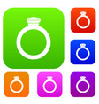 ring set color collection vector image vector image