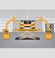 robot car vector image vector image