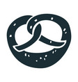 salt pretzel icon simple style vector image