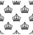 seamless royal crowns pattern background vector image vector image