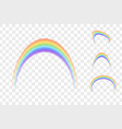 set colour rainbows isolated on transparent vector image vector image