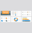 set gray orange blue and yellow elements for vector image vector image