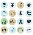 set of 16 management icons includes employee vector image vector image